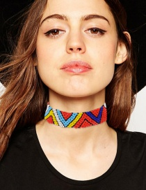 Fashion Multi-color Triangle Shape Decorated Choker