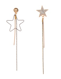 Fashion Gold Color Star Shape Decorated Earrings