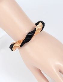 Fashion Gold Color+black Color Matching Decorated Bracelet