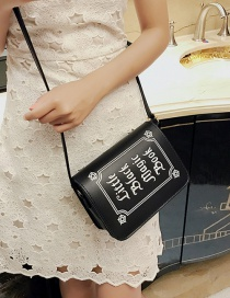 Fashion Black Pure Color Decorated Shoulder Bag