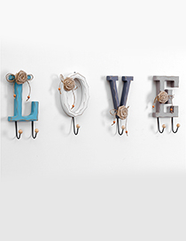Fashion Gray+blue Letter Love Shape Decorated Hook Ornaments