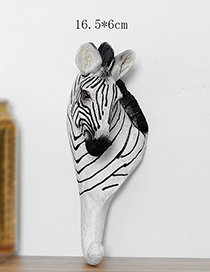 Fashion White+black Zebra Shape Decorated Hook Ornaments