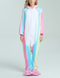 Trendy Multi-color Cartoon Horse Shape Decorated Siamese Pajamas