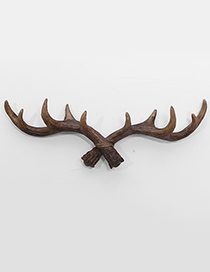 Fashion Brown Antlers Shape Decorated Hook Ornaments
