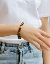 Fashion Brown Diamond&beads Decorated Pure Color Bracelet