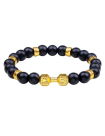 Fashion Gold Color Dumbbells Shape Decorated Bracelet