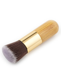 Fashion Gold Color Cylindrical Shape Decorated Makeup Brush(1pc)