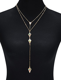 Fashion Gold Arrow Shape Decorated Multilayer Necklace