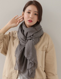 Fashion Gray Pure Color Decorated Dual-use Scarf