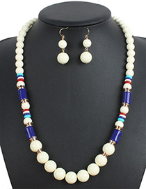 Fashion Brige Color-matching Decirated Jewelry Sets
