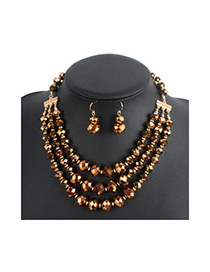 Fashion Brozen Round Shape Decorated Multilayer Jewelry Sets
