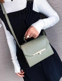 Fashion Green Pure Color Decorated Shoulder Bag