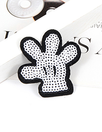 Fashion White+black Palm Shape Decorated Simple Brooch