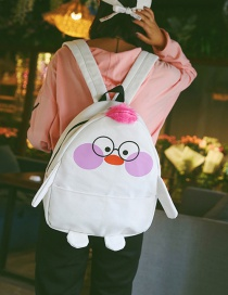 Fashion White Duck Shape Decorated Backpack