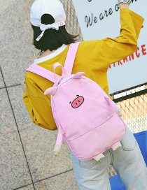 Fashion Pink Pig Shape Decorated Backpack