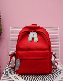 Fashion Red Bowknot Decorated Backpack