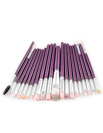 Fashion Purple +silver Color Pure Color Decorated Makeup Brush ( 20 Pcs)