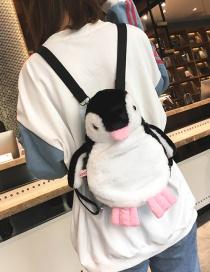 Sweet Black Penguin Shape Decorated Child Backpack