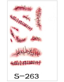 Fashion Red Pure Color Decorated Stickers
