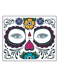 Fashion Multi-color Flower Pattern Decorated Cosmetic Stickers