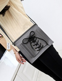 Fashion Gray Bandage Design Pure Color Mobile Phone Bag