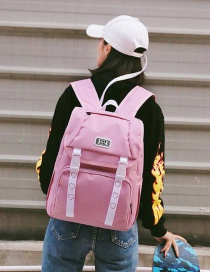 Sweet Pink Heart Shape Pattern Decorated Backpack