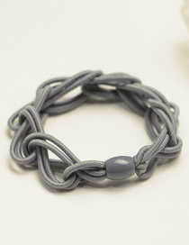 Fashion Gray Pure Color Decorated Hair Band