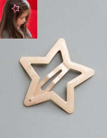 Lovely Khaki Star Shape Decorated Hairpin