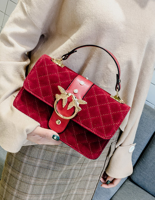 Trendy Red Swallows Decorated Shoulder Bag