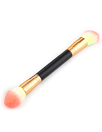 Trendy Yellow+pink Round Shape Decorated Makeup Brush