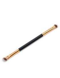 Trendy Gray+coffee Color Matching Decorated Eyebrow Brush