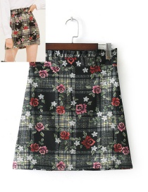 Fashion Multi-color Flower Pattern Decorated Skirt