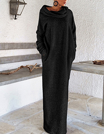 Sexy Black Off The Shoulder Decorated Long Dress