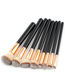 Fashion Brown Color-matching Decorated Brush (8pcs)