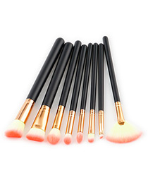 Fashion Light Orange Color-matching Decorated Brushes (8pcs)