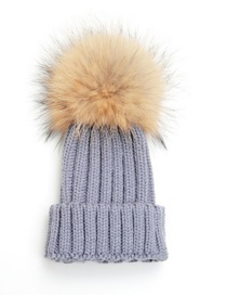 Lovely Light Gray Fuzzy Ball Decorated Baby Hat (0-2age )