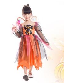 Fashion Orange Pumpkin Decorated Costume
