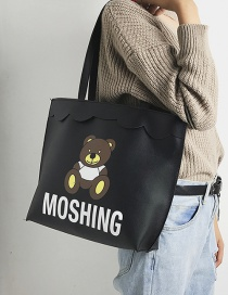 Lovely Black Bear Shape Decorated Bag