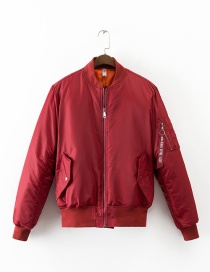 Fashion Red Letter Shape Decorated Jacket