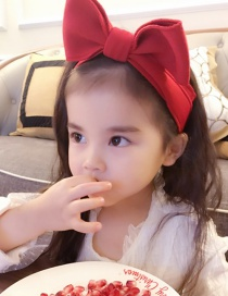 Lovely Red Bowknot Shape Decorated Baby Hair Band