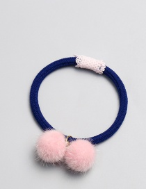 Cute Pink Fuzzy Ball Decorated Hair Band