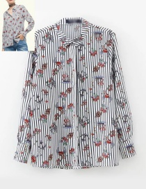 Fashion Multi-color Heart Pattern Decorated Shirt