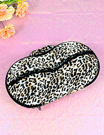 Fashion White+black Leopard Shape Decorated Buggy Bag