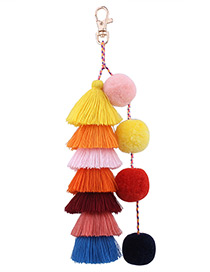 Lovely Multi-color Tassel Decorated Key Chain