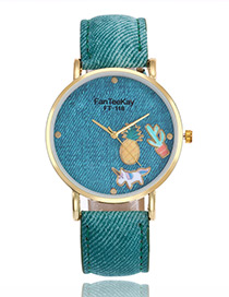 Lovely Green Cartoon Patterndecorated Watch