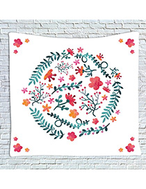 Fashion White+red Flower Pattern Decorated Blanket