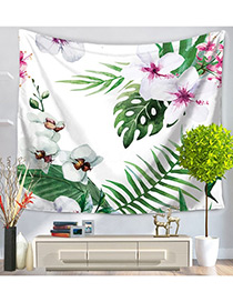 Fashion Green Flower&leaf Pattern Decorated Blanket