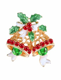 Lovely Green Bells Shape Decorated Brooch
