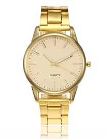 Fashion Gold Color Pure Color Decorated Watch