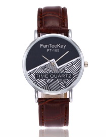 Fashion Brown Color-matching Decorated Watch